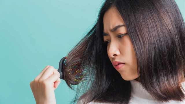 梳子密度過高產生 頭髮毛躁
